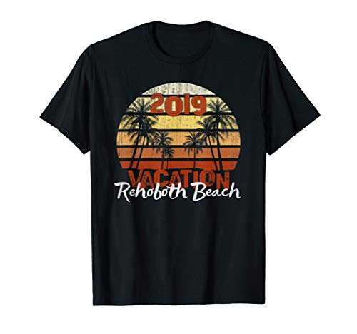 (Rehoboth Beach 2019 Vacation Throwback Cool Sunset Tee)