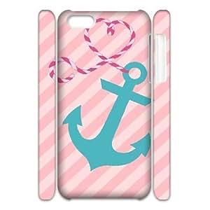 Anchor Chevron Cheap Custom 3D Cell Phone Case Cover for iPhone 5C, Anchor Chevron iPhone 5C 3D Case