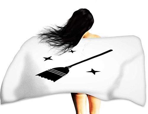 WinfreyDecor Beach Activity Bath Towel Witch Broom Halloween Concept Isolated Flat Vector icon 28