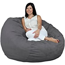 FUGU Bean Bag Chair, Foam Filled, Double Layered Construction, 4 Foot XL