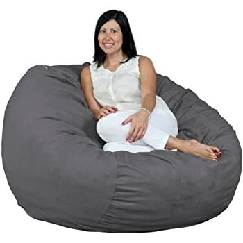 Delicieux FUGU Bean Bag Chair, Foam Filled, Double Layered Construction, 4 Foot XL