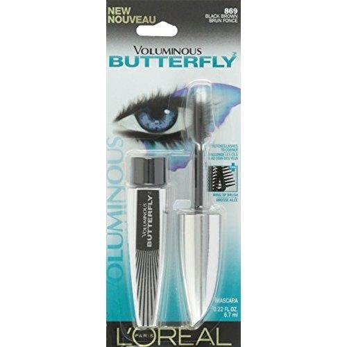 L'Oreal Paris Voluminous Butterfly Mascara, Black Brown [869] 0.22 oz (Pack of 11) by L'Oreal Paris