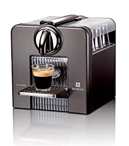 Nespresso C185T Le Cube Automatic Espresso Machine, Titan Gray
