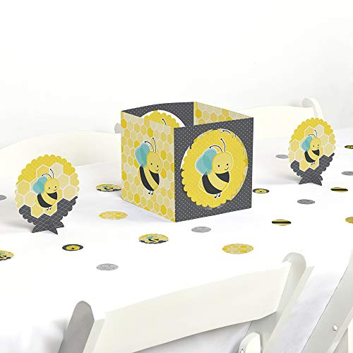 Big Dot of Happiness Honey Bee - Baby Shower or Birthday Party Centerpiece & Table Decoration Kit -
