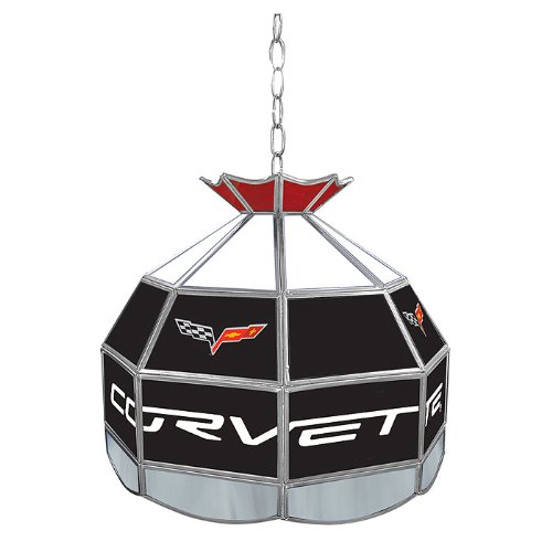 Chevrolet Corvette Tiffany Gameroom Lamp, 16'' by Trademark Gameroom