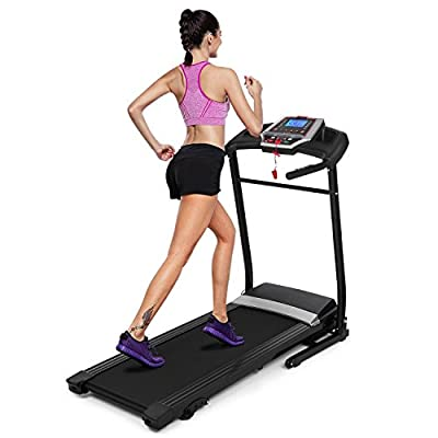 Utheing 2.25HP Electric Treadmill 110V Folding Running Machine, Motorized Power Running Fitness Jogging Treadmill Home Gym Fitness Exercise Equipment Workout Machine