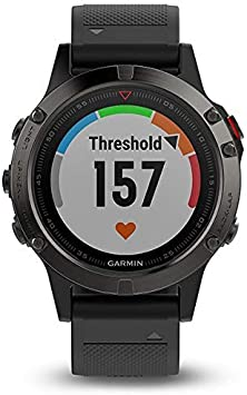 Garmin Fenix 5 Sapphire GPS Multisport Smartwatch Negro 010-01688-11 (Reacondicionado)
