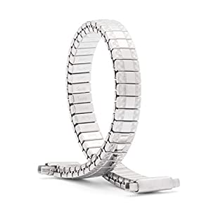 Speidel Ladies Twist-O-Flex Expansion Replacement Watch Band Silver Tone Straight End 10-14mm