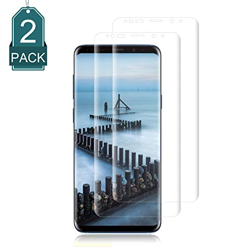 Galaxy S9 Plus Screen Protector [2-Pack],Cafetec Full Screen Coverage 3D PET HD Screen Protector Film Compatible with Samsung Galaxy S9 Plus.