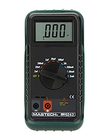 MASTECH MY6243 Portable Digital LC Meter Capacitance Meter Capacitor Inductance Meter Tester - - Amazon.com