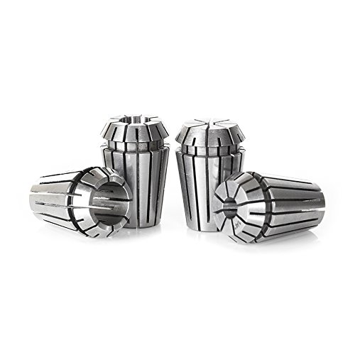 Long Collet (Amana Tool CO-ER20 4-Pc High Precision CNC 1/8, 1/4, 3/8 & 1/2 Inch D x 32mm Long Spring Collet Collection for ER20 Nut)