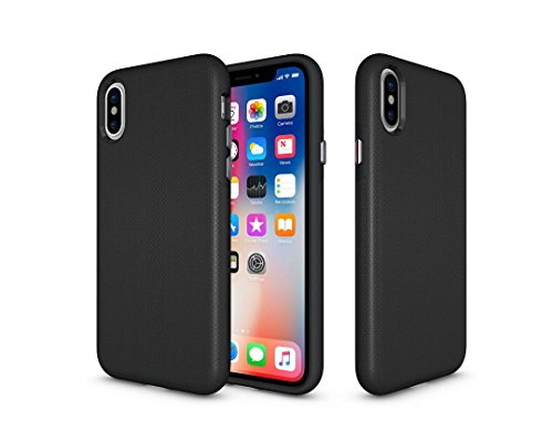 Brothersville Rugged Armor iPhone X Case with Dual Layer Protection Shockproof Design and Rugged Texture, - Profile Facial Shape