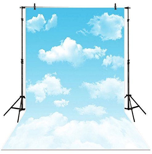 Blue sky with white clouds Background High-grade portrait cloth Computer printed children backdrops DD-L261