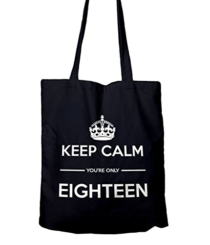 Keep Calm You're Only 18 Gift Tote Shopping Bag Navy