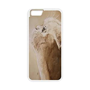 Nuktoe Iphone 6 Case Cat Face White Drawing KN297540