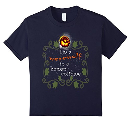 Hip Halloween Costumes Ideas (Kids Halloween costume party t-shirt werewolf human shirt  12 Navy)