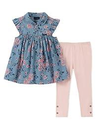 Calvin Klein - Leggings para niña (2 Piezas)