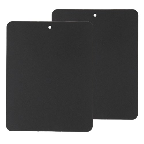 Linden Sweden Flexible Cutting Board 2-Pack - Lays Flat for Secure Work Surface - Extra-Thick for Durability - BPA-Free and Food-Safe (Black) ()