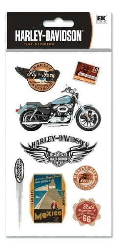 Destinations Scrapbook Stickers (Harley Davidson Motorcycle International Destinations 1 Scrapbook Stickers (HDFL09))