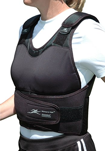 Women's Vest (Adjustable Height) Contoured 1 to 21 Lb. Weighted Vest Supplied At 21lbs by Ironwear