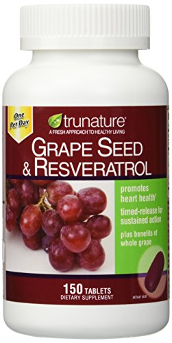 TruNature Grape Seed & Resveratrol - 2 Bottles, 150 Tablets Each by TruNature