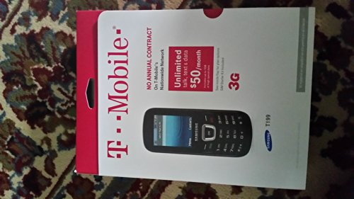 Samsung Sgh-t199 Black T-Mobile Cell Phone With SIM Card Starter Kit