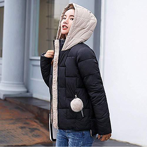 Tinta In Il Sintetica Cappotto Unita Nero Lungo Libero Caldo Invernale Donna Da Inverno Per Tempo Moda E Oudan Cappuccio Donna Pelliccia P0TqO