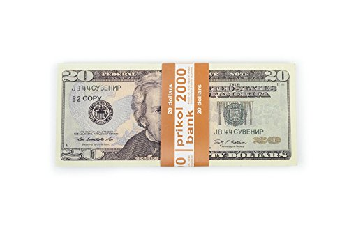 PROP MONEY, (80)New 20 dollar bill, COPY, Pranks, Advertising & Novelty