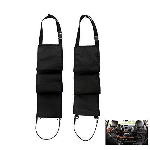 TEKCAM 1 Pair Car Concealed Seat Back Gun Rack Hold 3 Rifles/Shotguns Hunting Gun Organizer Holder Rack Fits Truck SUV Pickup Jeeps Most Automotive Sedans