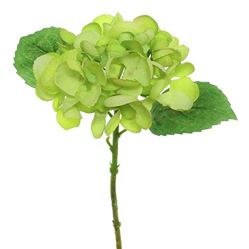 Lily Garden 12.5'' Silk Hydrangea Flower Spray - case of 6 (Green) by Lily Garden
