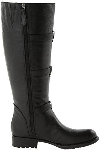Women's Sarto Motorcycle Petite Black Wide Calf Franco Boot pUzWPz