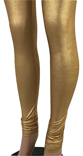 Gold or Silver Indian Shiny Women Legging Bollywood Dance Pants (L/XL/2XL-Fits USA(6-10), -