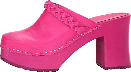 swedish hasbeens Womens Laila Heeled Sandal Neon Pink v7WeaESh