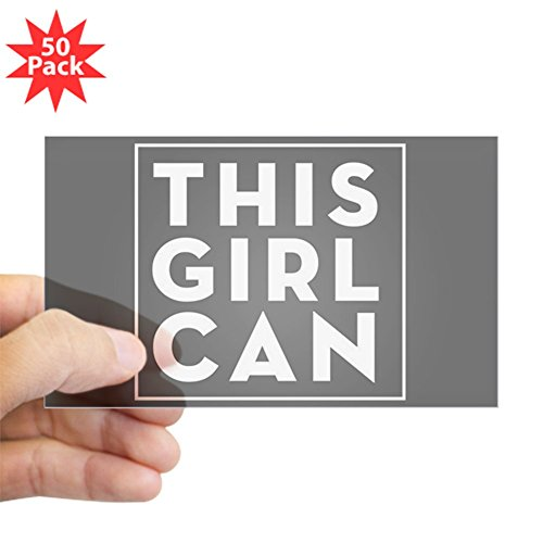 CafePress - This Girl Can - Sticker (Rectangle 50 pk) by CafePress