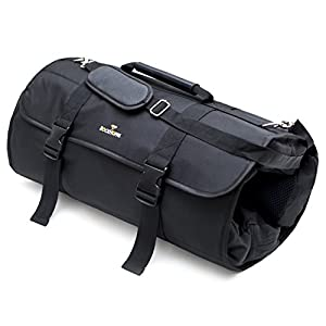 Weekend or Overnight Travel Roll Up Bag / Organizer Duffel Garment Bag and Carry On bag by RockHoppa - Black
