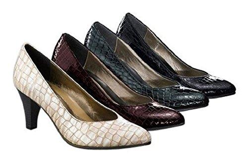 Zapatos de cuero en Diseño de piel de estilo en gris gris - gris