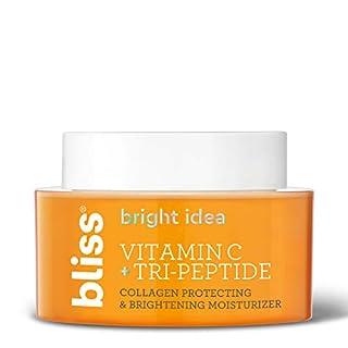 Bliss Bright Idea Vitamin C & Tri-Peptide Collagen Protecting & Brightening Moisturizer, Hydrates & Brightens Skin, Diminishes Dark Spots, Cruelty-Free & Vegan, 1.7 oz