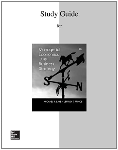 study guide to accompany managerial economics business strategy rh amazon com study guide for managerial economics and business strategy study guide for managerial economics baye