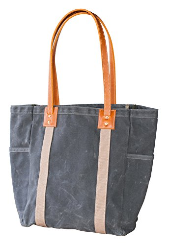 Artifact Bag Co. Unisex-Adult Slate Waxed Canvas Utility Tote
