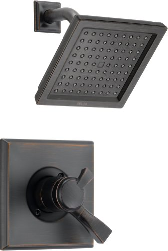 Delta Dryden 17 Series Dual-Function Shower Trim Kit with Single-Spray Touch Clean Shower Head, Venetian Bronze T17251-RB (Valve Not Included)