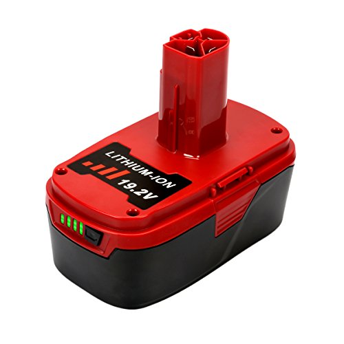 Energup 4.0Ah 19.2 Volt Lithium Battery Replacement for Craftsman C3 Battery XCP Craftsman 19.2 Volt Battery 130279005 1323903 130211004 11045 315.115410 315.11485