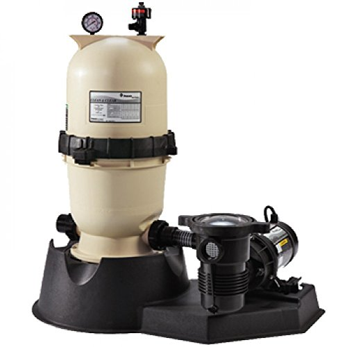 EasyClean DE Filter - #EC90 - Complete Filter System for Above Ground Pools - 1.5 HP Optiflo Pump