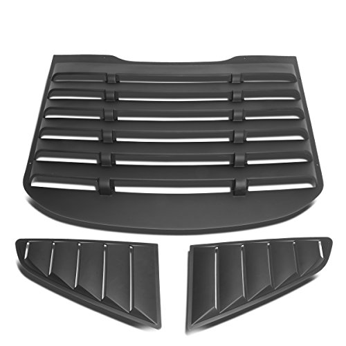 2015 Mustang Quarter Window - DNA MOTORING ZTL-Y-0001 Pair Rear Quarter Side Window Louver (15-18 Ford Mustang Coupe)