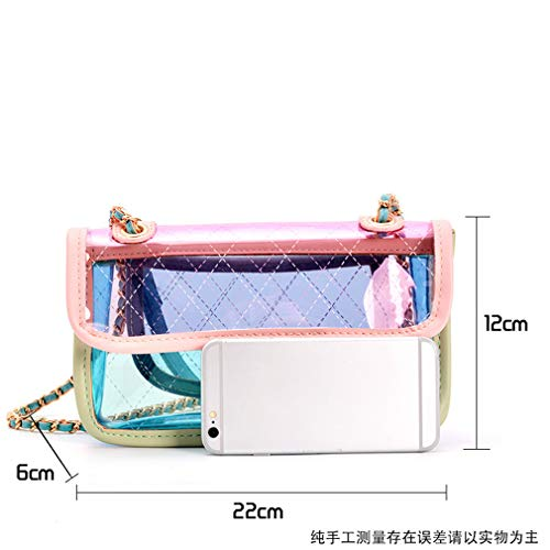 de Mini Yellow GE Cadena Jelly Bule1 de Ling pequeño Bolso Mensajero Xiang Bolso Bag Feng xpfwHwU