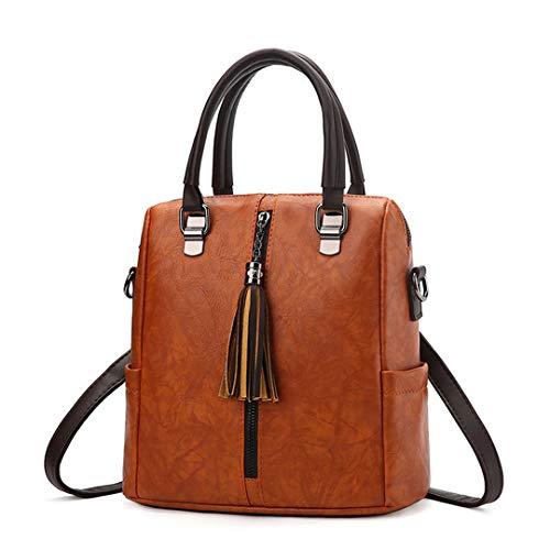 à rétro messenger Brown sacs cuir pour Sacs les sacs de multi dames usages main bandoulière sac Sentsreny femmes dos en luxe à sac à A68aFAxw