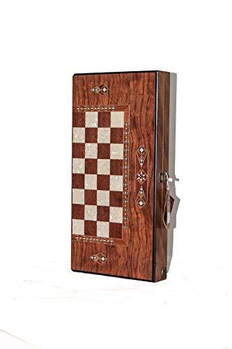 Helena wood art Classic Backgammon Set - Medium | Rosewood