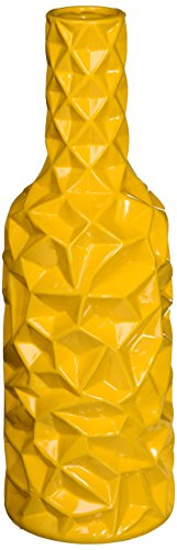 Urban Trends 30952-UT Decorative Ceramic Vase Yellow 12