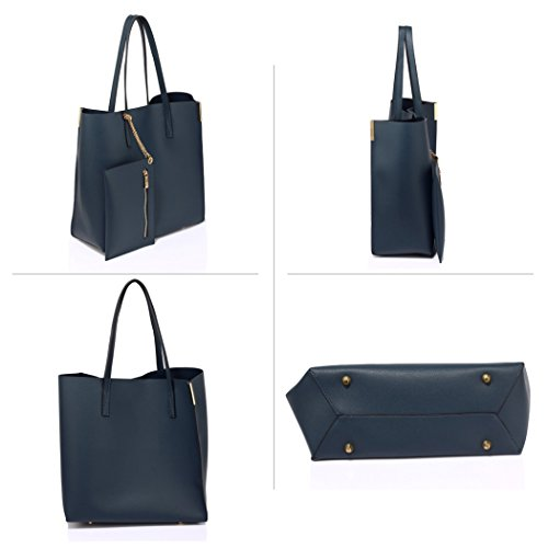 Leather Designer Bag Women's Handbags Leahward Shoulder Removable Faux 549 Quality With Tote Bags Navy wYqxZ