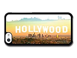 MMZ DIY PHONE CASECool Sunset over Hollywood Hills in LA (California) case for iphone 5c