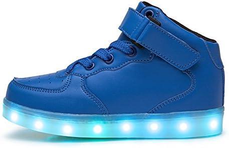 DoGeek Boys Girls Light up Trainers Big Kids Unisex - 1
